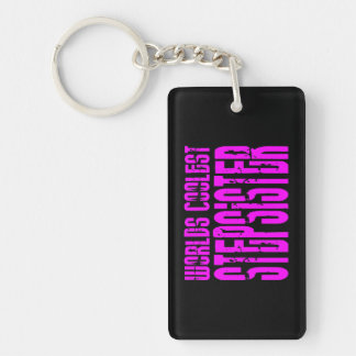Cool Stepsisters : Pink Worlds Coolest Stepsister Single-Sided Rectangular Acrylic Keychain