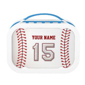 Cool Stitched Baseball Number 15 Yubo Lunch Box