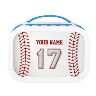 Cool Stitched Baseball Number 17 Lunch Box