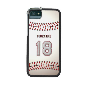Cool Stitched Baseball Number 18 iPhone 5 Case