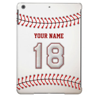 Cool Stitched Baseball Number 18 iPad Air Covers