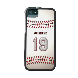 Cool Stitched Baseball Number 19 Case For iPhone 5