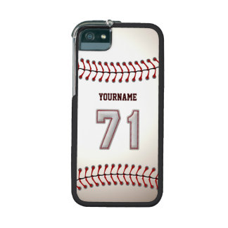 Cool Stitched Baseball Number 71 Case For iPhone SE/5/5s