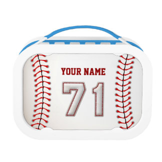 Cool Stitched Baseball Number 71 Lunch Box