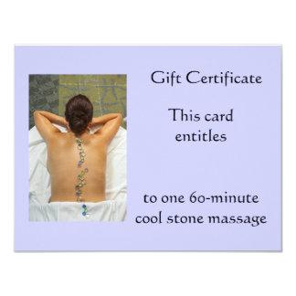Cool Stone Gift Certificate 4.25x5.5 Paper Invitation Card