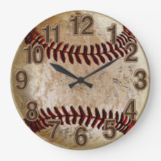 Cool Stone Look Vintage Baseball Clock For Him at Zazzle