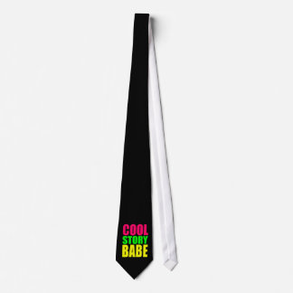 COOL STORY BABE in Neon Colors Neck Tie