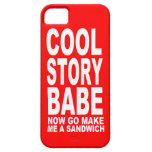 COOL STORY BABE: NOW GO MAKE BE A SANDWICH iPhone 5 CASE
