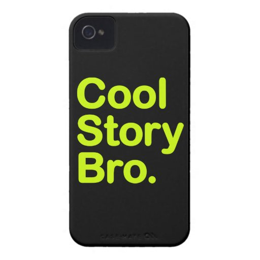 Cool Story Bro. Barely There iPhone 4 Case