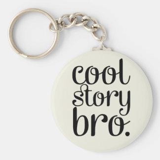 Cool Story Bro Cream Basic Round Button Keychain