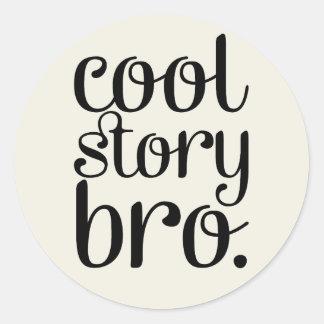 Cool Story Bro Cream Classic Round Sticker