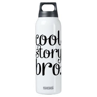 Cool Story Bro Cream Insulated Water Bottle