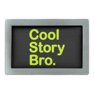 Cool Story Bro. Customizable Background Buckle Belt Buckle