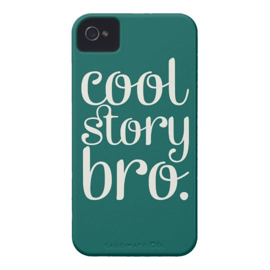 Cool Story Bro Green iPhone 4 Cover
