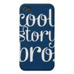 Cool Story Bro Navy Blue iPhone 4 Case