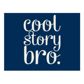 Cool Story Bro Navy Blue Postcard
