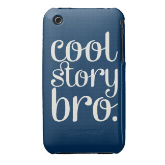 Cool Story Bro Navy iPhone 3 Cases