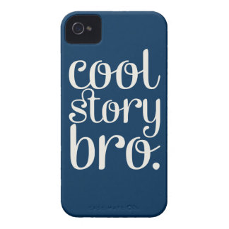 Cool Story Bro Navy iPhone 4 Case