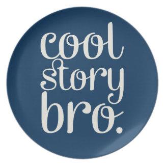 Cool Story Bro Navy Melamine Plate