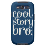 Cool Story Bro Navy Samsung Galaxy S3 Covers