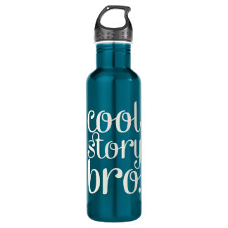 Cool Story Bro Navy Water Bottle