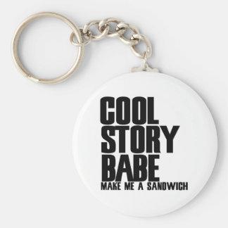 Cool Story Bro Parody Basic Round Button Keychain
