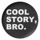 Cool Story Bro Party Plate