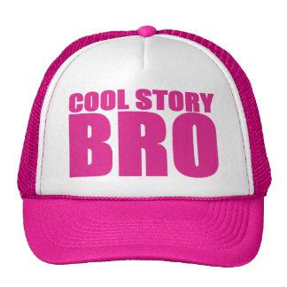 COOL STORY BRO PINK TRUCKER HAT