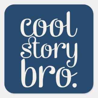Cool Story Bro Square Sticker