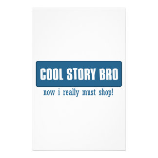 Cool story bro customized stationery