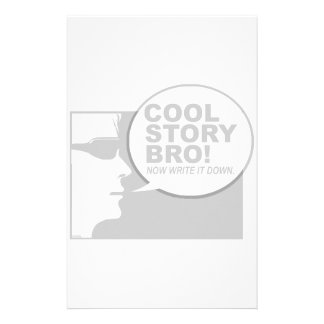 Cool story bro stationery design