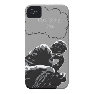 Cool Story, Bro Thinker Funny  iPhone 4 Case