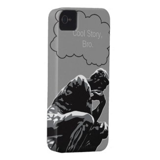 Cool Story, Bro Thinker Funny iPhone 4 Case casemate_case