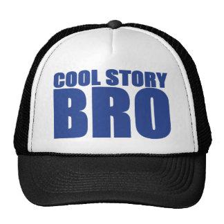 COOL STORY BRO TRUCKER HAT (BLACK & BLUE)