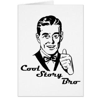Cool Story Bro Vintage Retro Greeting Card