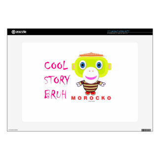 Cool Story Bruh-Cute Monkey-Morocko Decals For Laptops