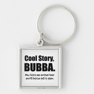 Cool Story, Bubba Silver-Colored Square Keychain
