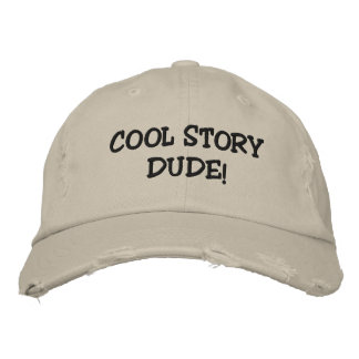 COOL STORY DUDE! EMBROIDERED BASEBALL HAT