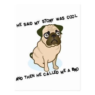 Cool Story Pug Post Card