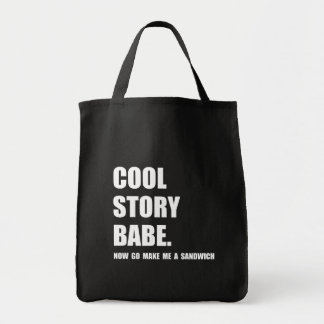 Cool Story Sandwich Grocery Tote Bag