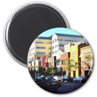 Cool Street In Hillcrest 2 Inch Round Magnet