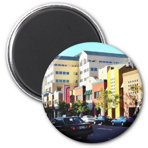 Cool Street In Hillcrest Magnets