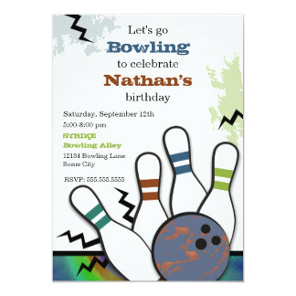 Cool Strike Bowling Invitation
