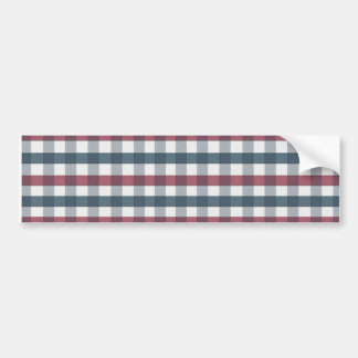 cool stripes blue and red bumper sticker