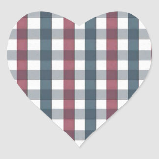 cool stripes blue and red heart sticker