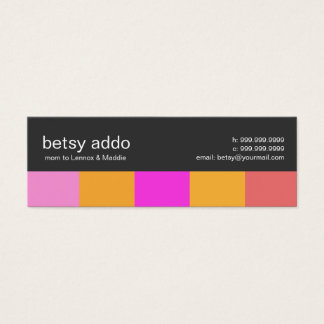 Cool Stripes Mommy Calling Cards