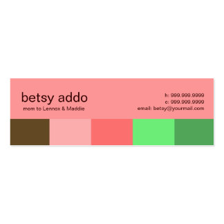 Cool Stripes Mommy Calling Cards Business Card