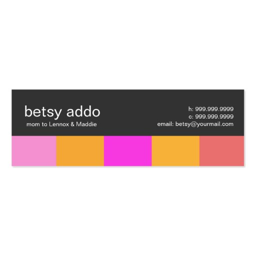 Cool Stripes Mommy Calling Cards Business Card Templates