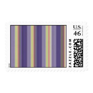 cool stripes postage stamp