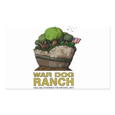 Cool stuff to support disabled veterans! rectangular sticker